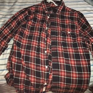 Red Plaid Five Four Button Down
